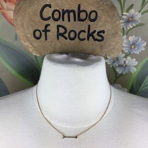 Stella & Dot On the Mark Gold Vermeil Necklace